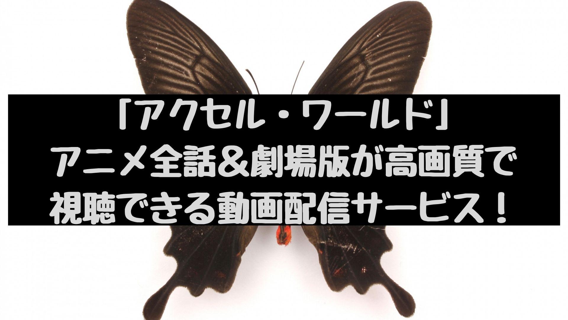 「アクセル・ワールド」アニメ全話+劇場版が高画質で視聴できる動画配信サービス!