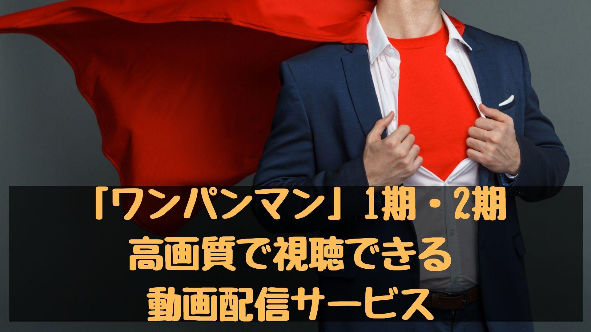 アニメ「ワンパンマン」1期・2期の動画!高画質で視聴できる動画配信サービス一覧!