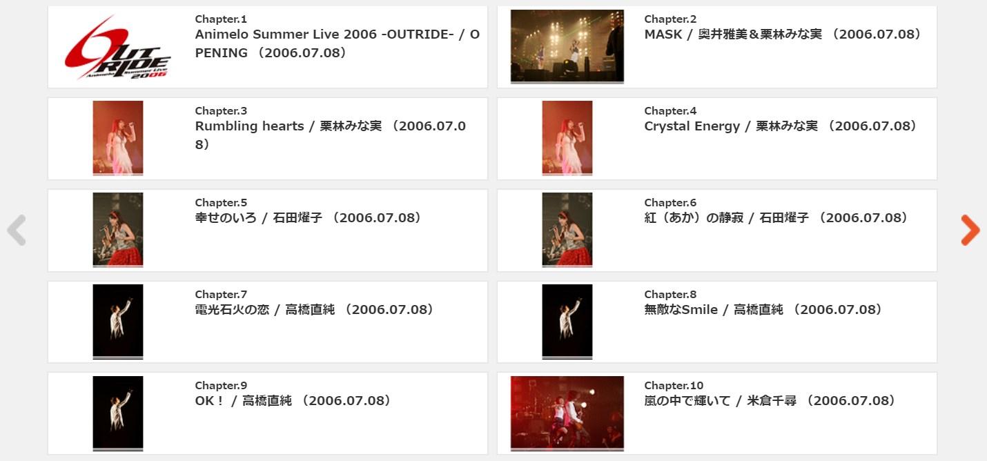 アニサマ2006の動画配信サービス2