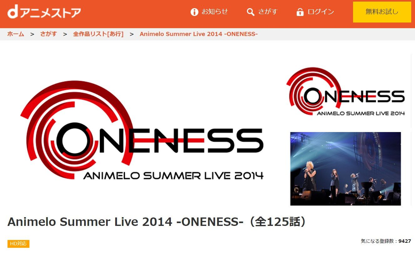 アニサマ2014の動画配信サービス