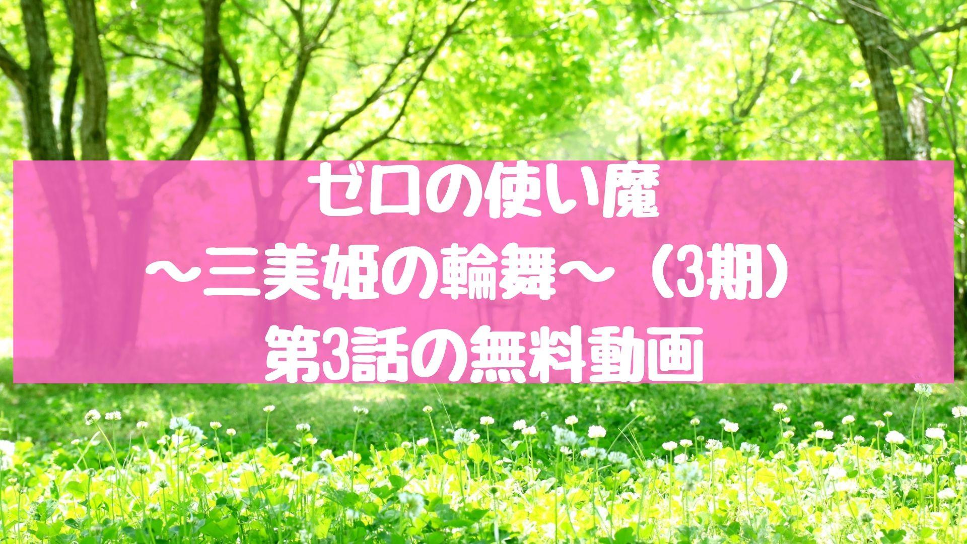 ゼロの使い魔~三美姫の輪舞~(3期) 第3話の無料動画